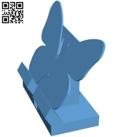 Cell butterfly stand – smartphone B009230 file obj free download 3D Model for CNC and 3d printer