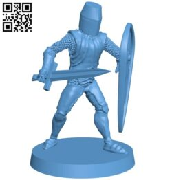 Classic knight B009332 file obj free download 3D Model for CNC and 3d printer