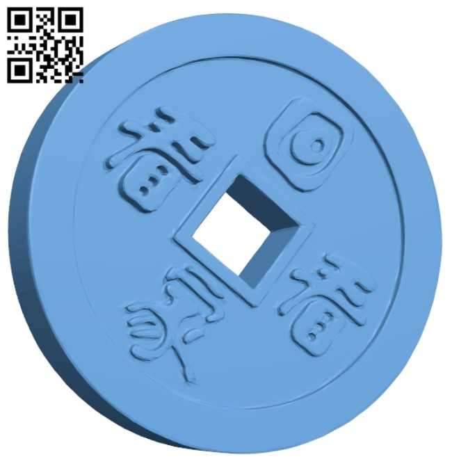 Coin B009346 file obj free download 3D Model for CNC and 3d printer