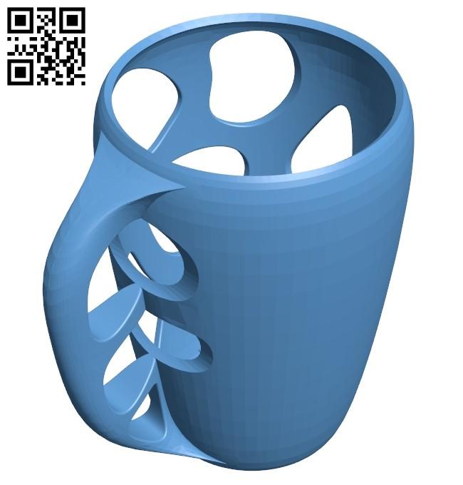 Coque pour verre B009332 file obj free download 3D Model for CNC and 3d printer
