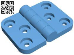Door hinge – 20X30 B009240 file obj free download 3D Model for CNC and 3d printer