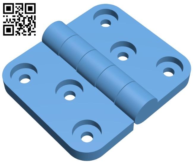 Door hinge 20x35 B009241 file obj free download 3D Model for CNC and 3d printer