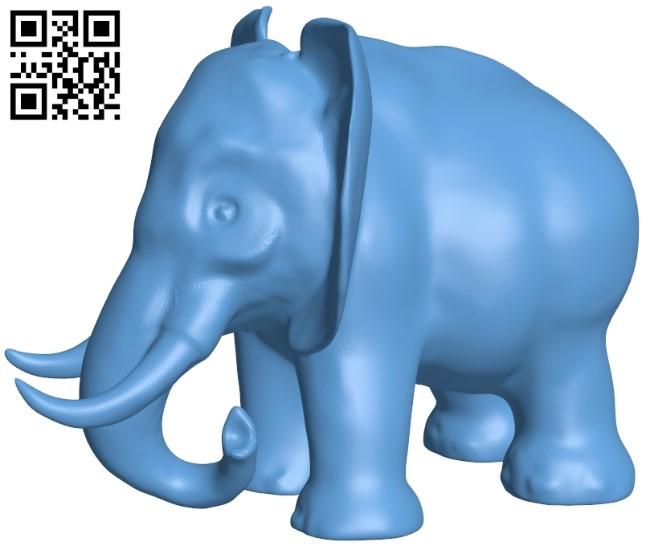 Elephant B009289 file obj free download 3D Model for CNC and 3d printer