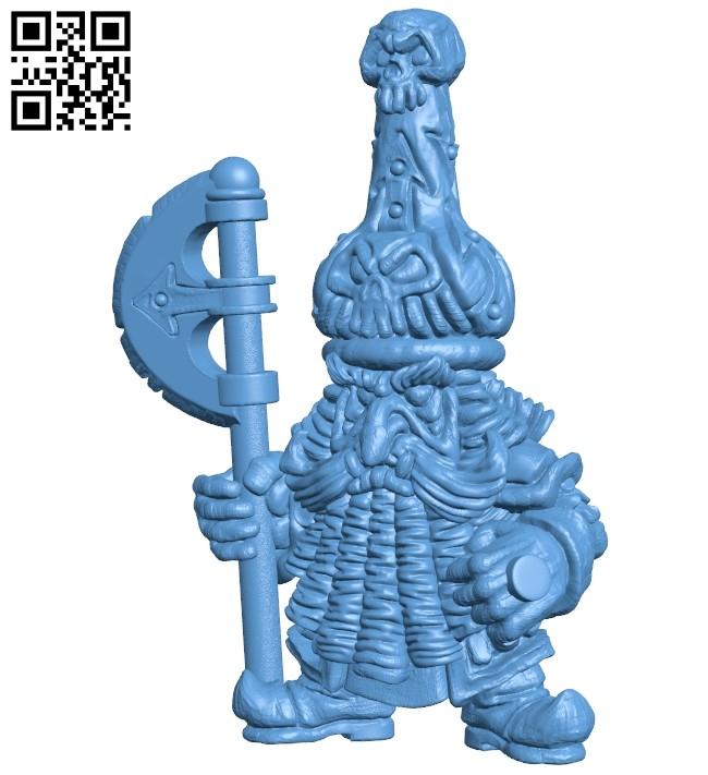 Evil dwarf warrior B009324 file obj free download 3D Model for CNC and 3d printer