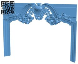 Fireplace door frame A006190 download free stl files 3d model for CNC wood carving