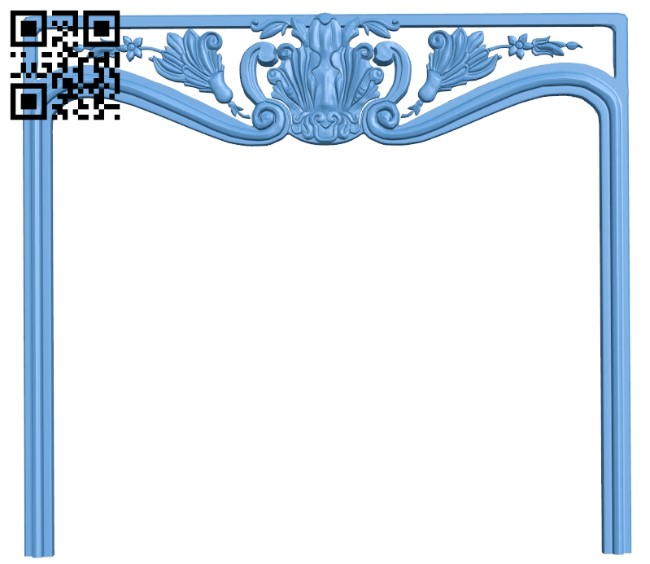Fireplace door frame A006191 download free stl files 3d model for CNC wood carving