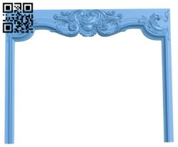 Fireplace door frame A006193 download free stl files 3d model for CNC wood carving