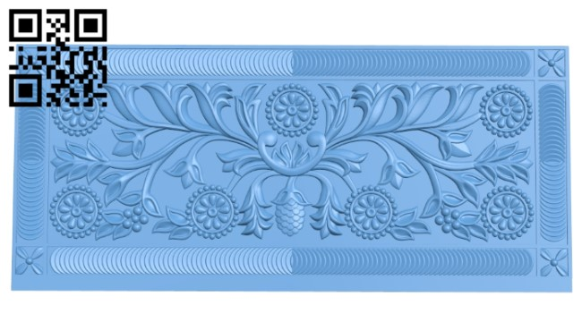 Flat plate pattern A006295 download free stl files 3d model for CNC wood carving