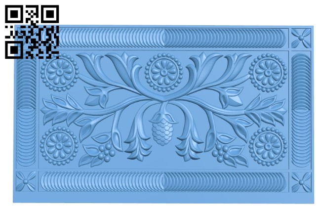 Flat plate pattern A006296 download free stl files 3d model for CNC wood carving