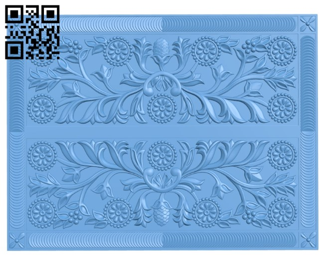 Flat plate pattern A006297 download free stl files 3d model for CNC wood carving