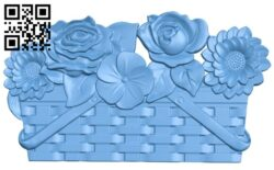 Flower painting A006174 download free stl files 3d model for CNC wood carving