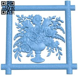 Flower painting A006176 download free stl files 3d model for CNC wood carving
