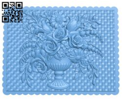 Flower painting A006179 download free stl files 3d model for CNC wood carving