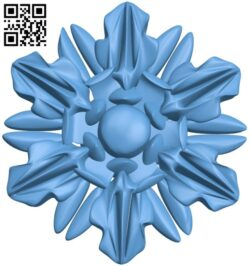 Flower pattern A006261 download free stl files 3d model for CNC wood carving