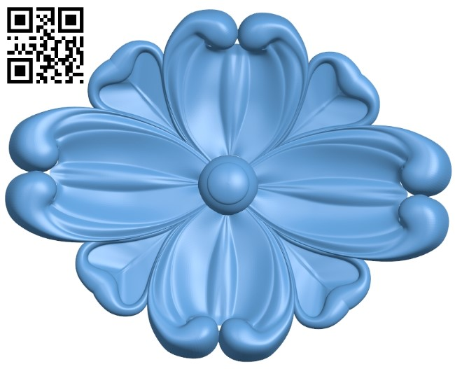 Flower pattern A006262 download free stl files 3d model for CNC wood carving
