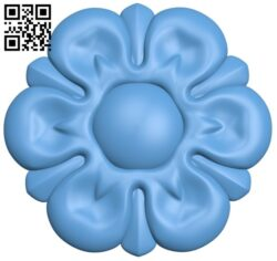 Flower pattern A006263 download free stl files 3d model for CNC wood carving