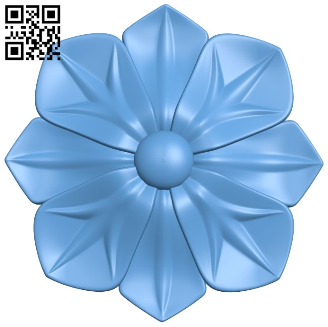 Flower pattern A006264 download free stl files 3d model for CNC wood carving