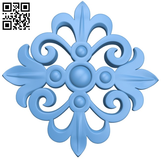Flower pattern A006265 download free stl files 3d model for CNC wood carving