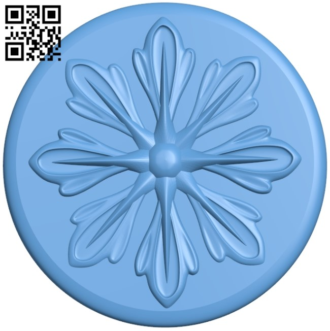Flower pattern A006266 download free stl files 3d model for CNC wood carving