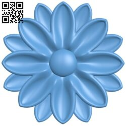 Flower pattern A006267 download free stl files 3d model for CNC wood carving