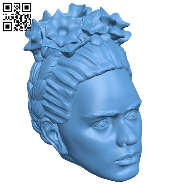 Frida Kahlo B009228 file obj free download 3D Model for CNC and 3d printer