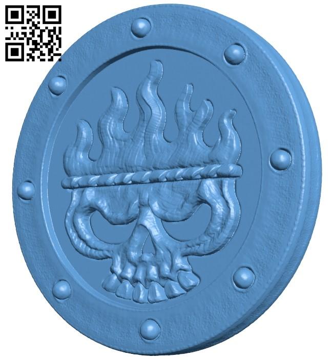 Goblet shield B009225 file obj free download 3D Model for CNC and 3d printer