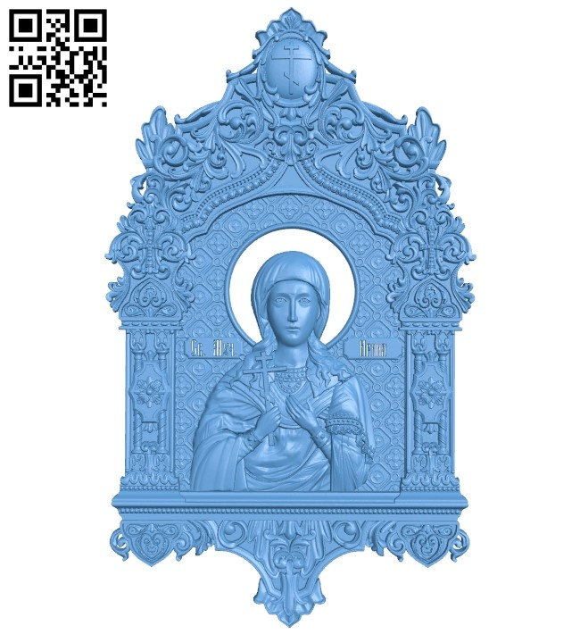 Icon Saint Irina A006157 download free stl files 3d model for CNC wood carving