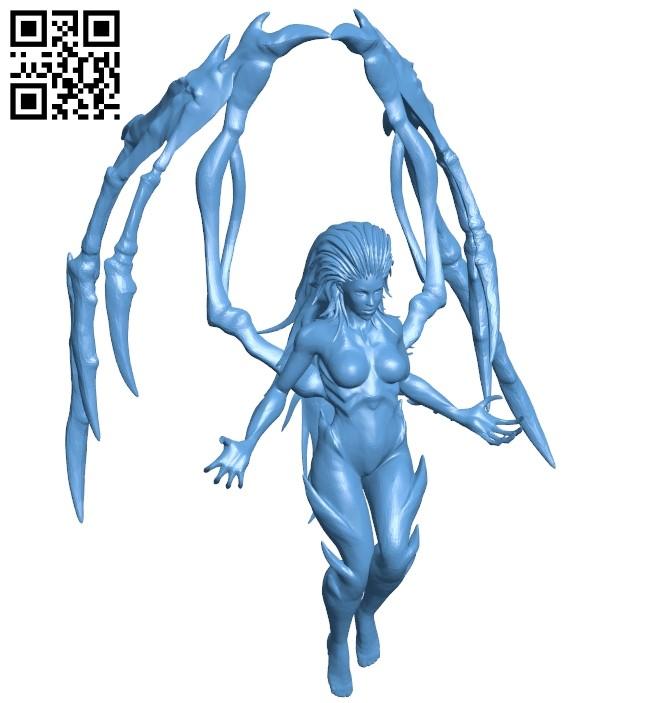 Kerrigan fly B009270 file obj free download 3D Model for CNC and 3d printer