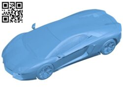 Lamborghini aventador – car B009300 file obj free download 3D Model for CNC and 3d printer