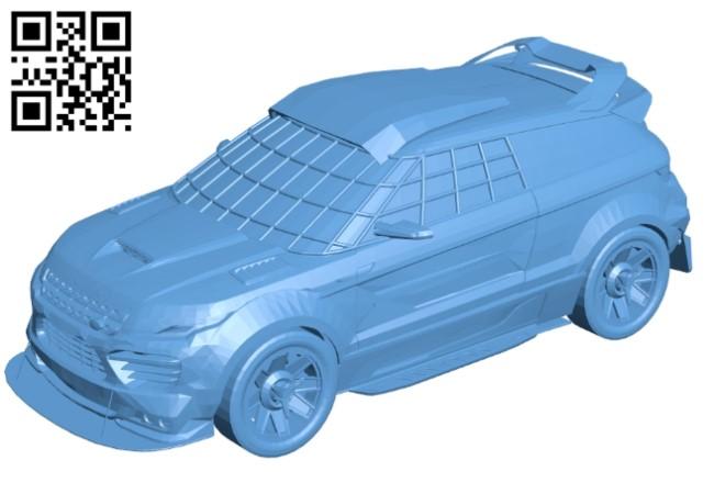 Land rover racer - car B009301 file obj free download 3D Model for CNC and 3d printer