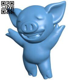 Lihkg pig B009306 file obj free download 3D Model for CNC and 3d printer