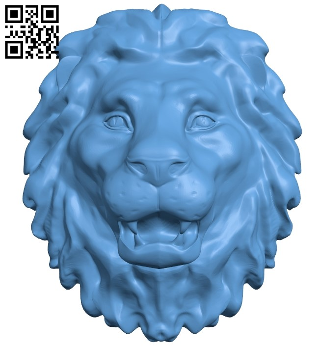 Lion head pattern A006231 download free stl files 3d model for CNC wood carving