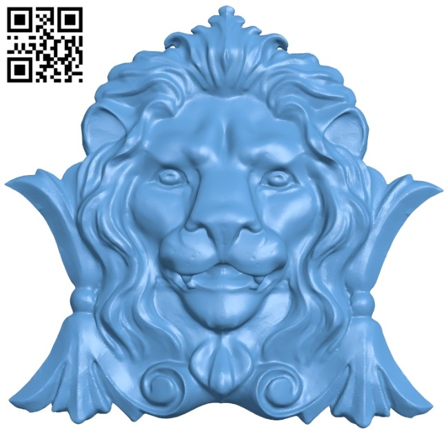 Lion head pattern A006232 download free stl files 3d model for CNC wood carving