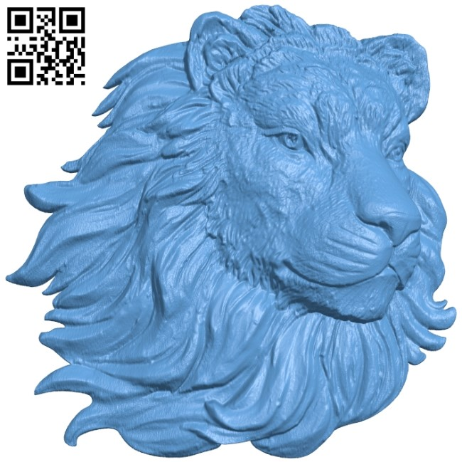 Lion head pattern A006234 download free stl files 3d model for CNC wood carving