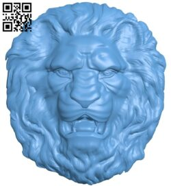 Lion head pattern A006235 download free stl files 3d model for CNC wood carving