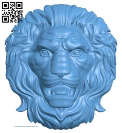 Lion head pattern A006238 download free stl files 3d model for CNC wood carving