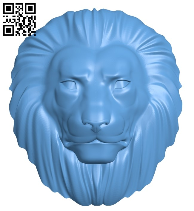 Lion head pattern A006239 download free stl files 3d model for CNC wood carving
