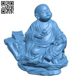 Little monk B009315 file obj free download 3D Model for CNC and 3d printer