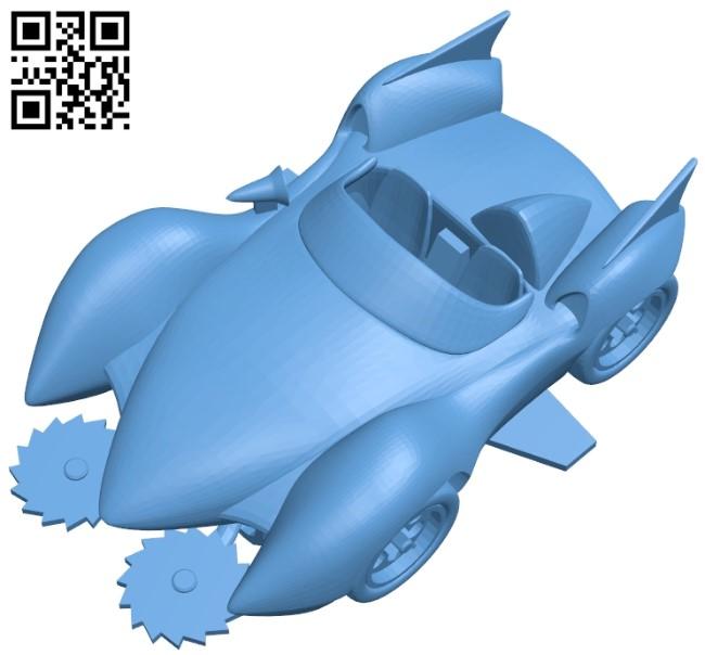 Mach go deformed - car B009313 file obj free download 3D Model for CNC and 3d printer