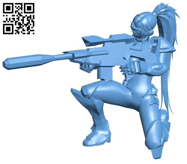 Miss Nova shoot low repaired B009255 file obj free download 3D Model for CNC and 3d printer