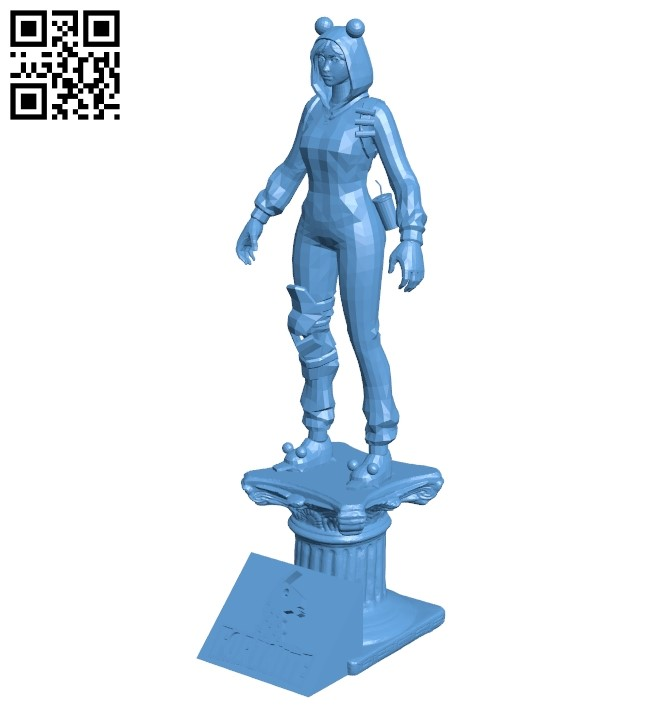 Miss Onesie fortnite B009328 file obj free download 3D Model for CNC and 3d printer