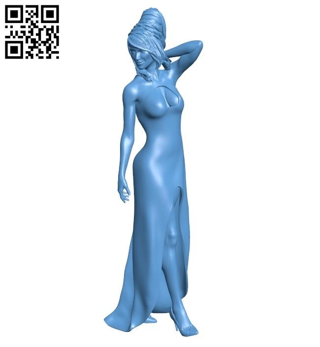 Miss Rebekah B009327 file obj free download 3D Model for CNC and 3d printer