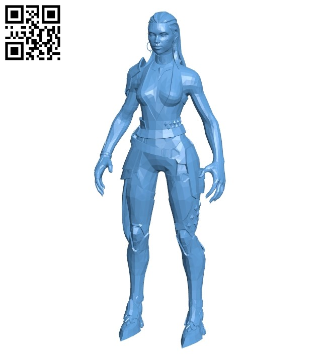 Miss Reyna No Textures B009337 file obj free download 3D Model for CNC and 3d printer