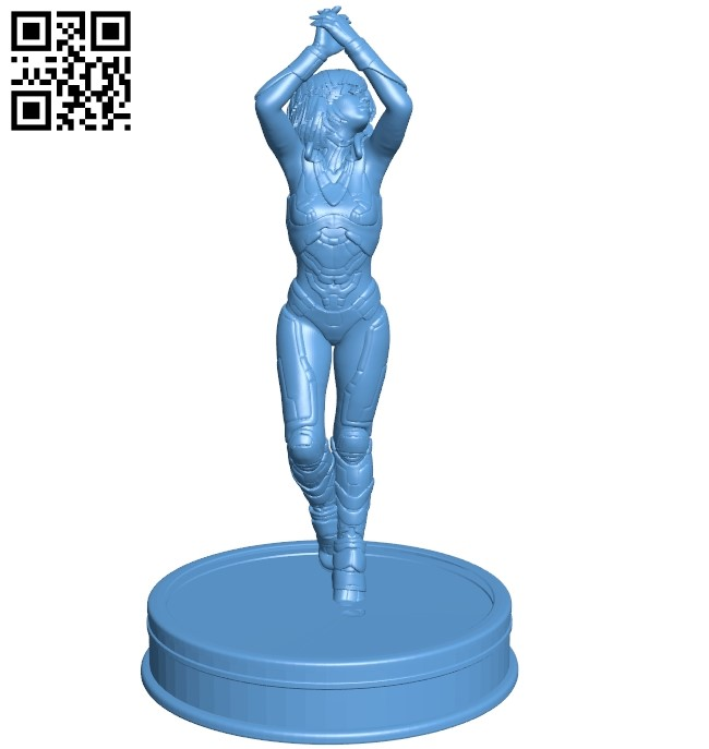 Miss Sci Fi chick B009307 file obj free download 3D Model for CNC and 3d printer