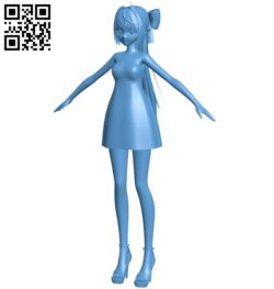 Miss Shiranui flare B009362 file obj free download 3D Model for CNC and 3d printer