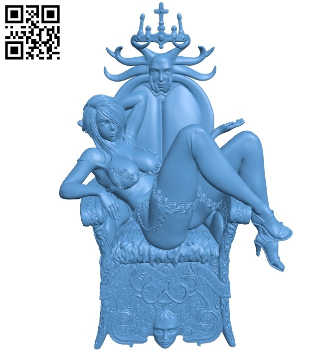 Miss Simone B009277 file obj free download 3D Model for CNC and 3d printer