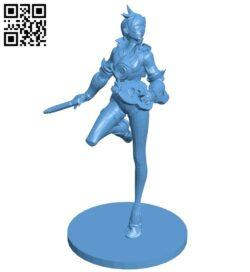 Miss Tracer B009318 file obj free download 3D Model for CNC and 3d printer