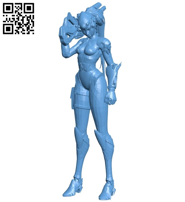 Miss widowmaker B009250 file obj free download 3D Model for CNC and 3d printer