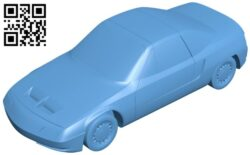 Moskvich Velar – Car B009222 file obj free download 3D Model for CNC and 3d printer