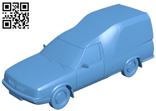 Moskvich svyatogor pickup - car B009257 file obj free download 3D Model for CNC and 3d printer